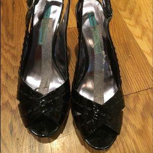 Black Payton platform heels